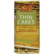 Suzies Quinoa and Sesame Puff Corn Cake 4.6 Ounce