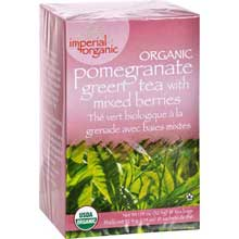 Imperial Organic Pomegranate Green Tea Bag with Mixed Berries