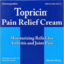 Topricin Anti Inflammatory Pain Relief Cream 4 Ounce