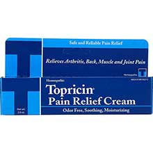 Topricin Anti Inflammatory Pain Relief and Healing Cream 2 Ounce