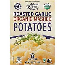 Edward and Sons Organic Roasted Garlic Mashed Potato 3.5 Ounce