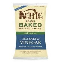 Kettle Foods Sea Salt and Vinegar Potato Chips 4 Ounce