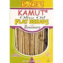 Suzies Kamut Rosemary Flat Bread 4.5 Ounce