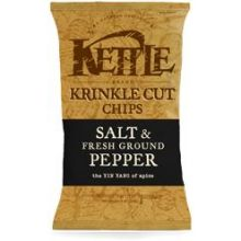 Kettle Foods Salt and Fresh Ground Pepper Krinkle Cut Potato Chips 5 Ounce