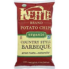 Kettle Foods Organic Chipotle Chili Barbeque Potato Chips 5 Ounce