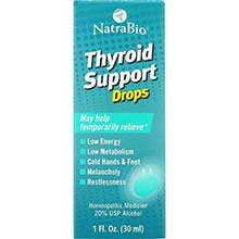 Natra Bio Co Thyroid Support Liquid 1 Ounce
