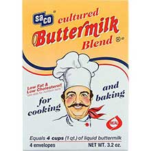 Saco Foods Inc Cultured Powdered Buttermilk Blend 3.2 Ounce