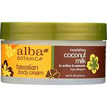 Alba Botanica Coconut Milk Body Cream 6.5 Ounce