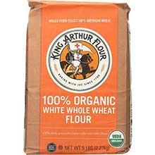 King Arthur Organic White Whole Wheat Flour 2 Pound