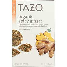 Tazo All Natural Organic Hot and Spicy Ginger Herbal Tea