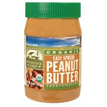 Woodstock Farms Organic Easy Spread Smooth Peanut Butter Salted 16 Ounce