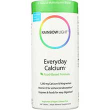 Rainbow Light Everyday Calcium with Enzyme Tablet Easy Digestion