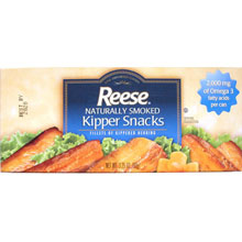 Reese Naturally Smoked Kipper Snacks 3.25 Ounce