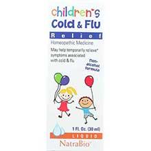 Natra Bio Childrens Cold and Flu Liquid 1 Ounce