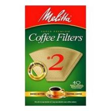 Melitta Natural Brown Cone Coffee Filter Number 2