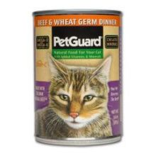 Pet Guard Beef and Wheat Germ Dinner Canned Cat Food 14 Ounce