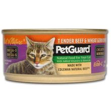 Pet Guard Beef and Wheat Germ Dinner Canned Cat Food 5.5 Ounce