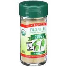 Frontier Herb Fair Trade Certified Organic White Ground Pepper 1.98 Ounce