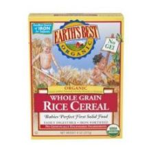 Earths Best Organic Whole Grain Rice Cereal 8 Ounce