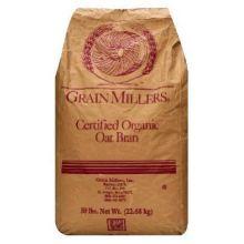 Grain Millers Organic Premium Fine Oat Bran 50 Pound