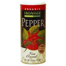 Frontier Herb Organic Black Fine Grind Pepper 2.5 Ounce