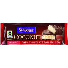 Sunspire Coconut Dark Chocolate Candy Bar 1.75 Ounce