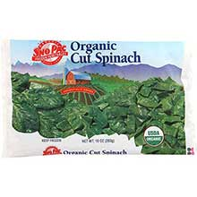 Sno Pac Foods Organic Cut Spinach, 10 Ounce