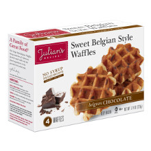 Natural Belgian Butter Waffle with Chocolate