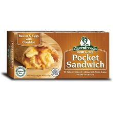 Bacon and Eggs with Cheddar Pocket Sandwich