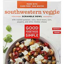 Southwestern Veggies Breakfast in a Bowl