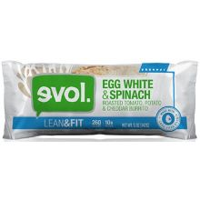 Lean and Fit Egg White Spinach Roasted Tomato Breakfast Burrito