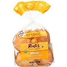 Rudis Organic White Hamburger Bun