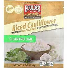 Riced Cilantro Lime Cauliflower