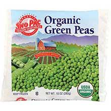 Sno Pac Foods Organic Green Peas 10 Ounce