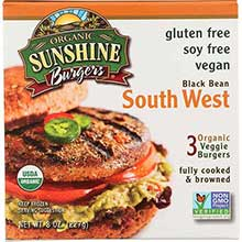 Sunshine Burger Company Organic Southwest Vegetable Burger