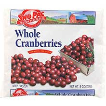 Sno Pac Foods Whole Cranberry 8 Ounce