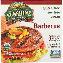 Sunshine Burger Company Organic Barbecue Burger