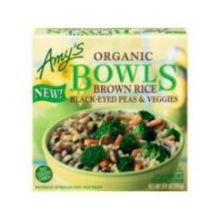 Organic Brown Rice Black Eyed Peas and Veggie Bowl