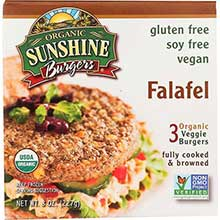 Sunshine Burger Company Organic Falafel Patty 8 Ounce