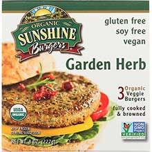 Sunshine Burger Company Organic Garden Vegetable Burger