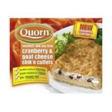 Quorn Foods Cranberry and Goat Cheese Chicken Cutlet 8.5 Ounce