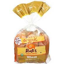 Rudis Organic Wheat Hot Dog Rolls