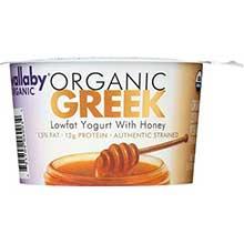 Organic Greek Honey Lowfat Yogurt