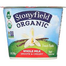 Stonyfield Farm Organic Fat Free French Vanilla Yogurt 6 Ounce