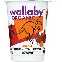 Wallaby Organic Maple Yogurt 6 Ounce