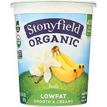 Stonyfield Farm Organic Banilla Yogurt 32 Ounce