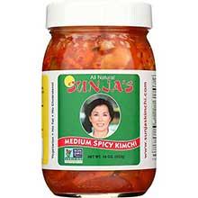 Sunjas Oriental Foods Medium Spicy Cabbage Kimchi 16 Ounce