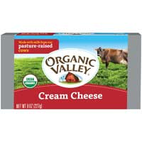 Organic Valley Organic Pasteurized Cream Cheese Bar 8 Ounce