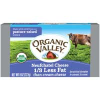 Organic Valley Organic Neufchatel Pasteurized Cream Cheese 8 Ounce