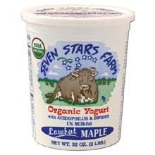 Seven Stars Farm Organic Maple Yogurt 32 Ounce